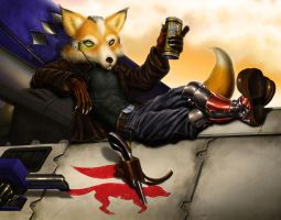 Fox in peace by Dogsfather