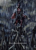 Rain on the red devil (Hellboy) by Robus2