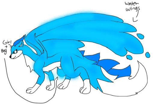 Aqua and Slither formed together (dragon Slither) by Aquathedog-underfell