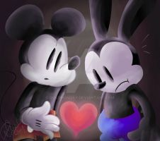 Epic Mickey/A heart. by GoldMonday