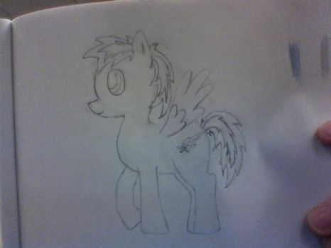 My Drawn  Moonbow Chaser Outline by Dezrian