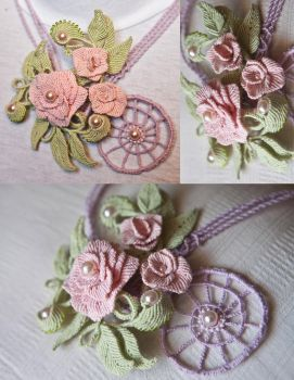 Three Roses Necklace by Hope72