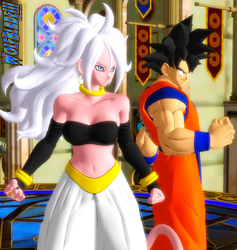 Goku and 21 by WOLFBLADE111