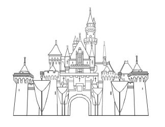 Disney Land Castle Lineart by Liahona