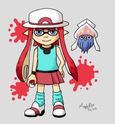 Pokemon Trainer Inkling Girl by MapleRose