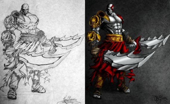 God of War Before and After by Slightly-Spartan