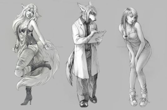 sketch commissions C by akreon