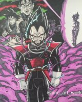Black Vegeta by jmcartwork