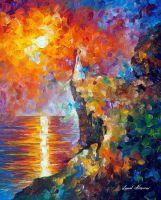 Hopes Of Love by Leonid Afremov by Leonidafremov