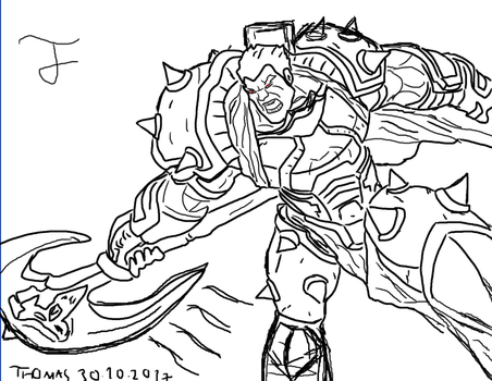 My First Art Sketch of Darius The Hand Of Noxus by Andrasfu1027