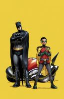 Batman and Robin by sinccolor