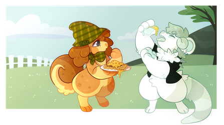 tfw you go outside to feed your rowdy friend nacho by ToastedFur