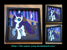 12x12 Wet Mane Rarity Shadowbox by The-Paper-Pony