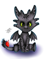 HTTYD | Chibi Toothless by Sanity-Paints