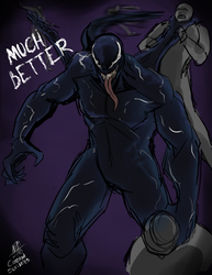 Venom Sketch by ConstantScribbles