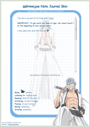 Grimmjow Note Journal Skin by 16thSquadSanseki