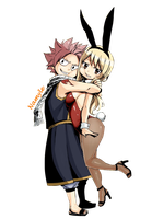 Natsu and Lucy - Fairy Tail (Render) by Namyle