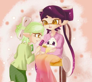 Squid Sisters ::Look at the camera:: by kiraradaisuki