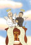 Steve Jobs and St. Peter by AsraiLight