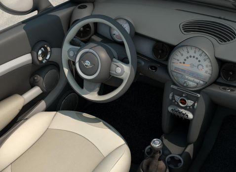 Mini Cooper S cabrio interior by pablete