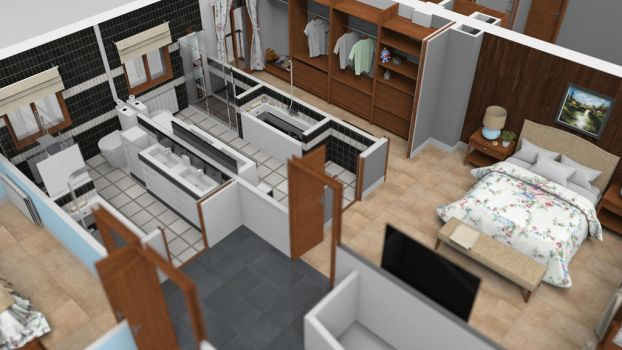 3D FLOOR PLAN FIRST FLOOR by sanchiesp