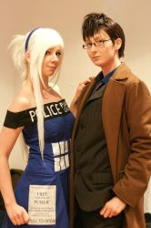 Tardis and 10th doctor by HelloDarkside