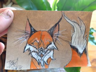 Daily Doodle: Red Fox by DreamingofDarkhorses