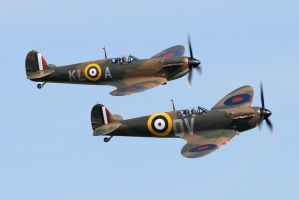 Spitfire flypast #2 by gary1701