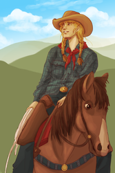 Flint Hills cowgirl by boscaresque