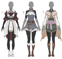 Outfit Adoptables [SET 1] - CLOSED by aamebell