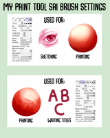 paint tool sai brush settings by surespiders