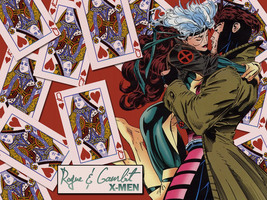 Wallpaper: Gambit x Rogue by 6-5and5-11