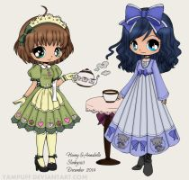 Honey and Annabelle by slinkysis3