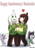happy second anniversary Undertale! by Silentwoofz