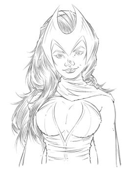 Scarlet Witch - Pencils by Jon-Moss