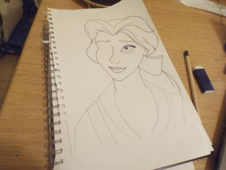 Belle from Beauty and the Beast (WIP) by Daena-Targaryen
