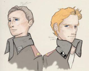 Elex Artwood and Georges Blakewell by TakadaSaiko