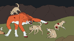 Coyotes Attack by Redspets