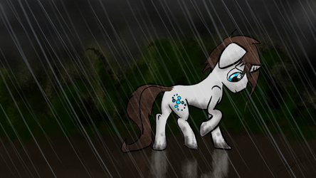 Rainy Night Walk by InfinityDash