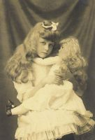Vintage girl and doll II by MementoMori-stock