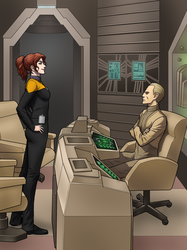 Marino meets Odo by suburbantimewaster