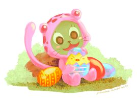 Fro's Easter Friend by astrayeah