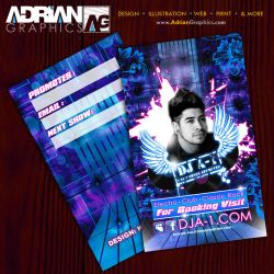 Dj Business Card by adriangraphicsco