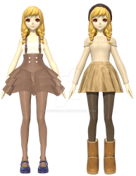[MMD] Jayne Summer and Winter by GetSquiddy