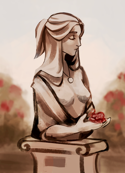 The Statue Of Roses {oct} by R0BUTT