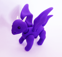 Posable Little Dragon by vonBorowsky