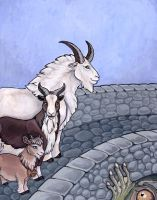 'Three Billy Goats Gruff' by Feather-Collector