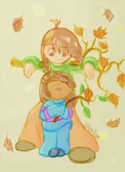 Monarch Of The Leaf Pile by Passionrising