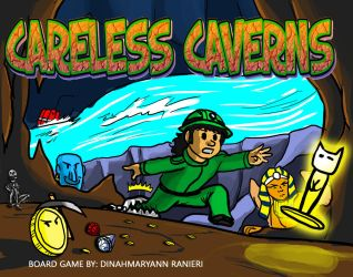 Careless Caverns Board Game Instruction Booklet by Dinahmite64