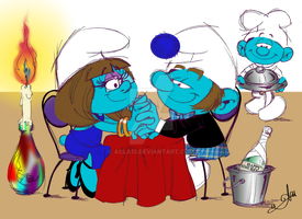 Smurfday Dinner by Candlelight by acla13